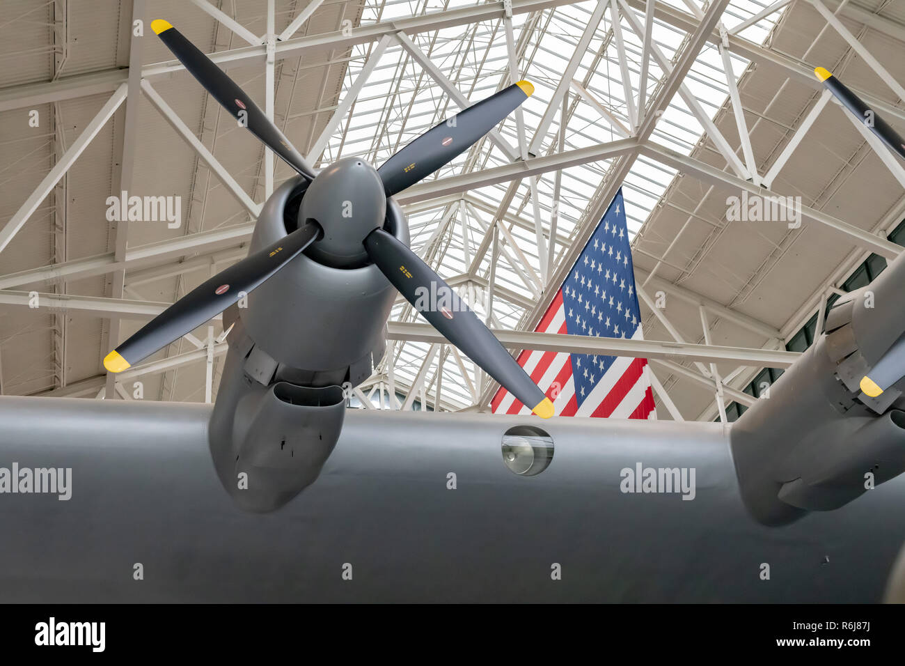 Howard Hughes' Spruce Goose (aka Flying Boat) at Evergreen Aviation & Space Museum in McMinnville, Oregon - Stock Image