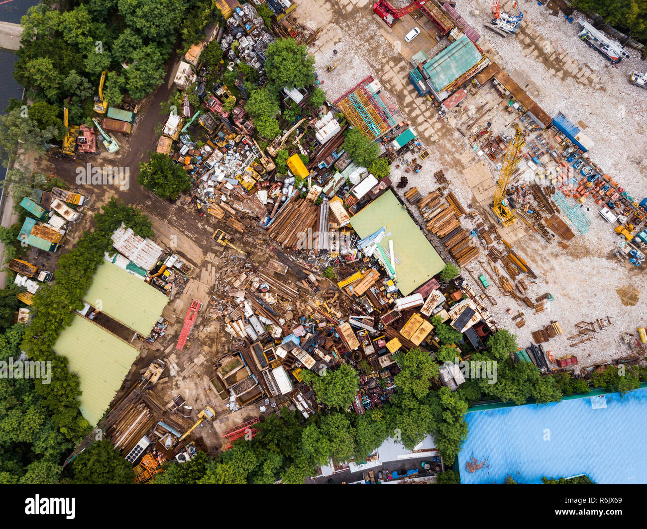 Top view of waste garbage Stock Photo