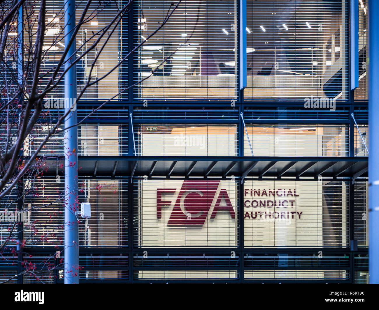 FCA Financial Conduct Authority HQ in International Quarter London in Stratford East London - opened 2018 architect Rogers Stirk Harbour + Partners - Stock Image