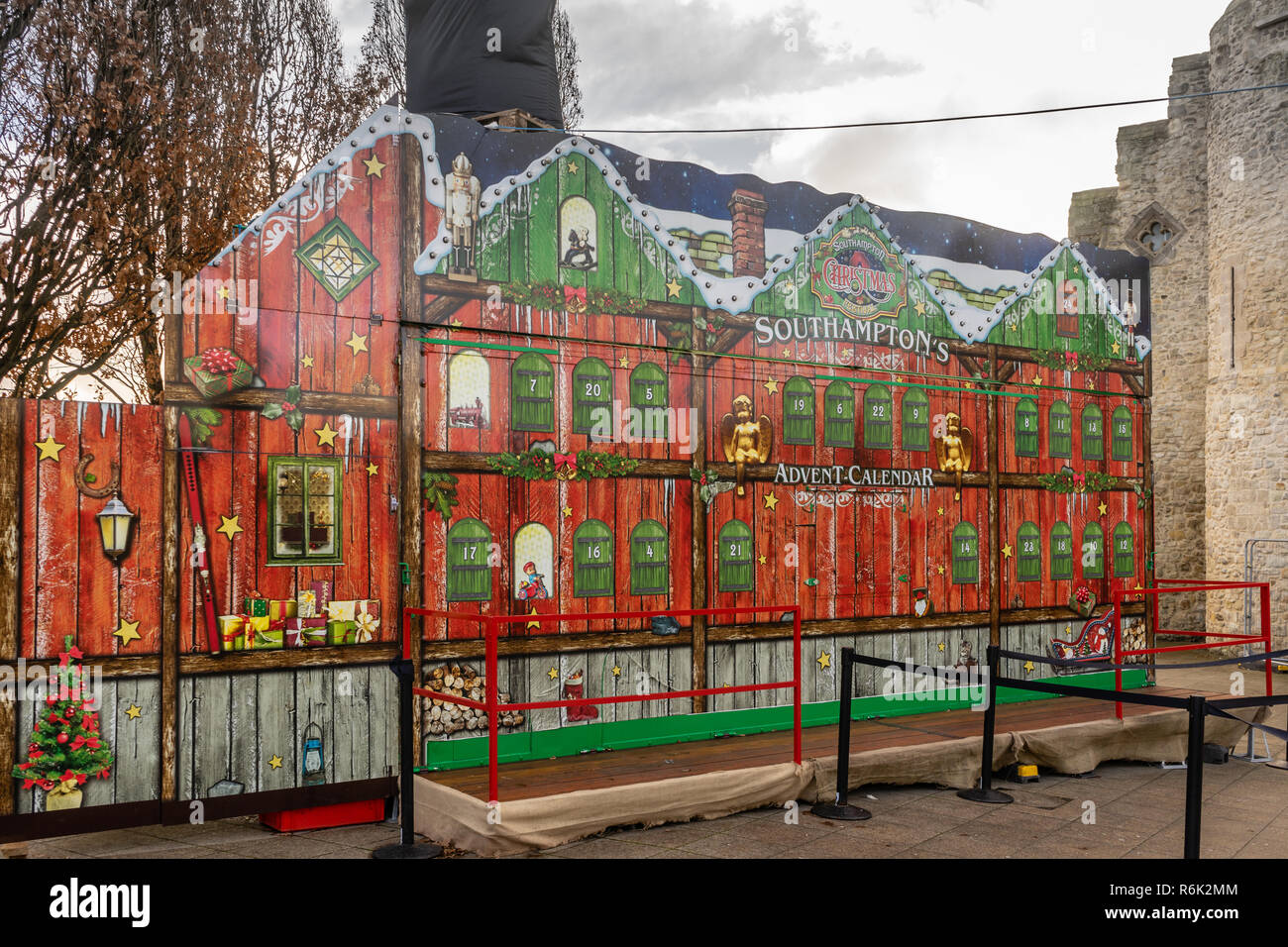 Tacky Christmas Decorations in Southampton - Southampton's Advent Calendar 2018 in the City Centre, Hampshire, England, UK - Stock Image