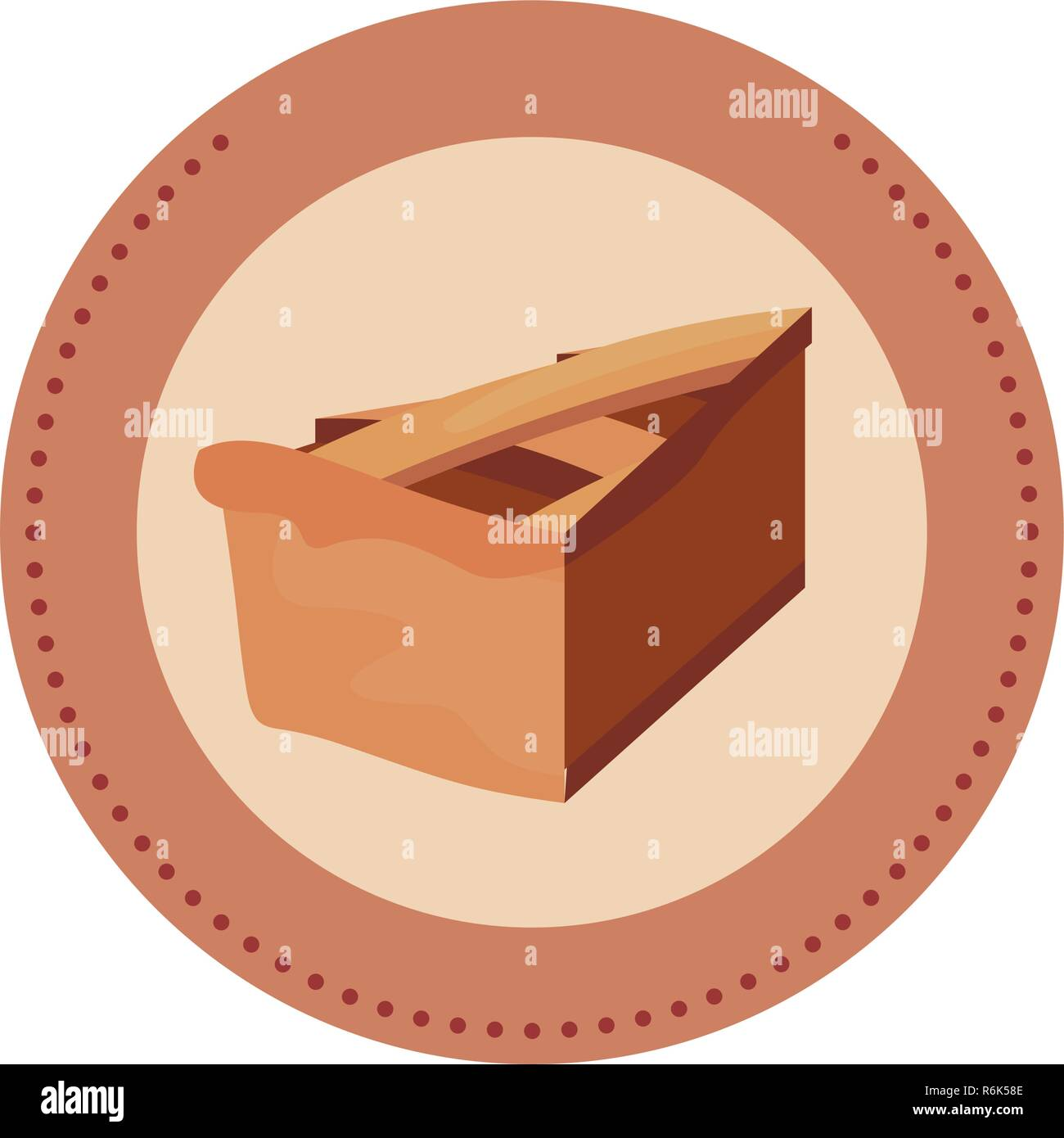 slice pie cake label design vector illustration Stock Vector Art