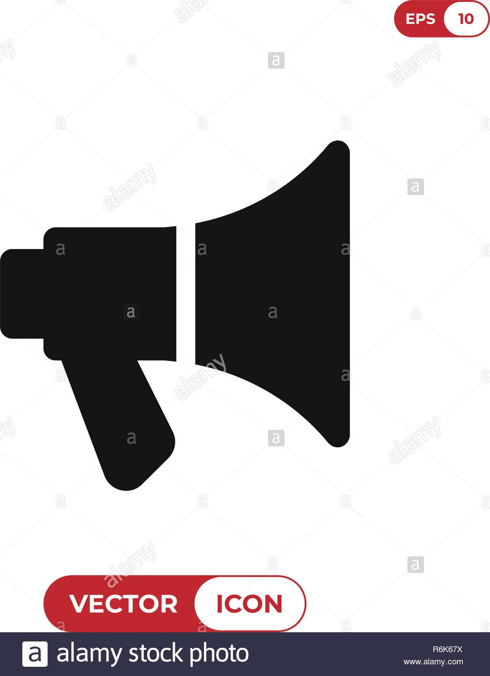 Megaphone icon vector illustration - Stock Vector
