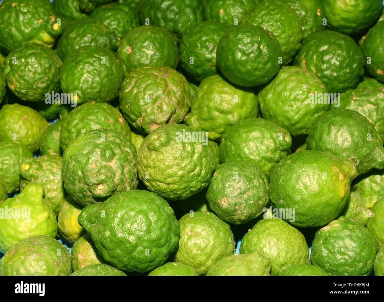 Green Bergamot Stock Photo