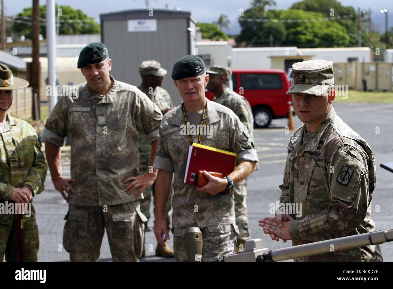 Senior enlisted advisors attending the Association of the United States  Army's 2017 LANPAC Symposium and Exposition, visited Joint Base Pearl  Harbor-Hickam ...