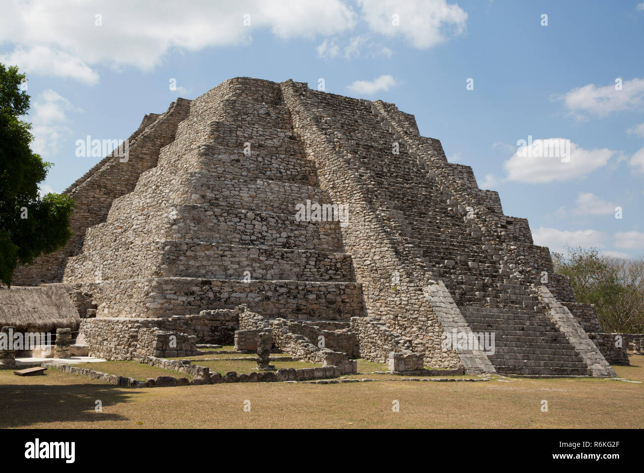 Castle of Kukulcan, Mayan Ruins, Mayapan Archaeological Site, Yucatan, Mexico - Stock Image
