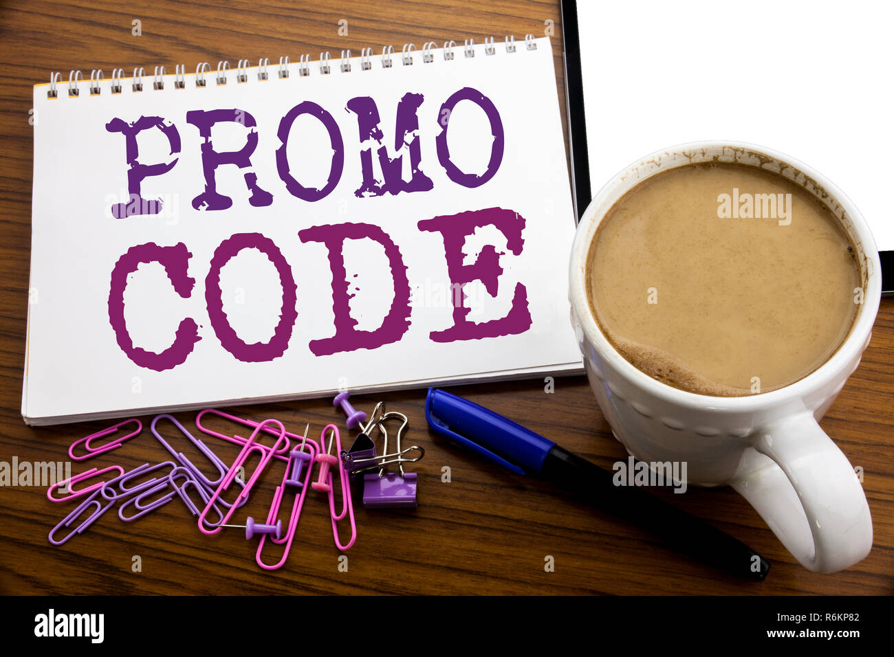 Hand writing text caption inspiration showing Promo Code  Business