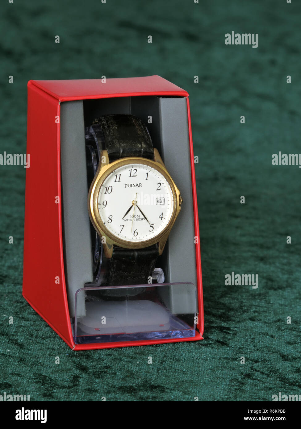 Pulsar Wristwatch or Watch in a Presentation Box - Stock Image