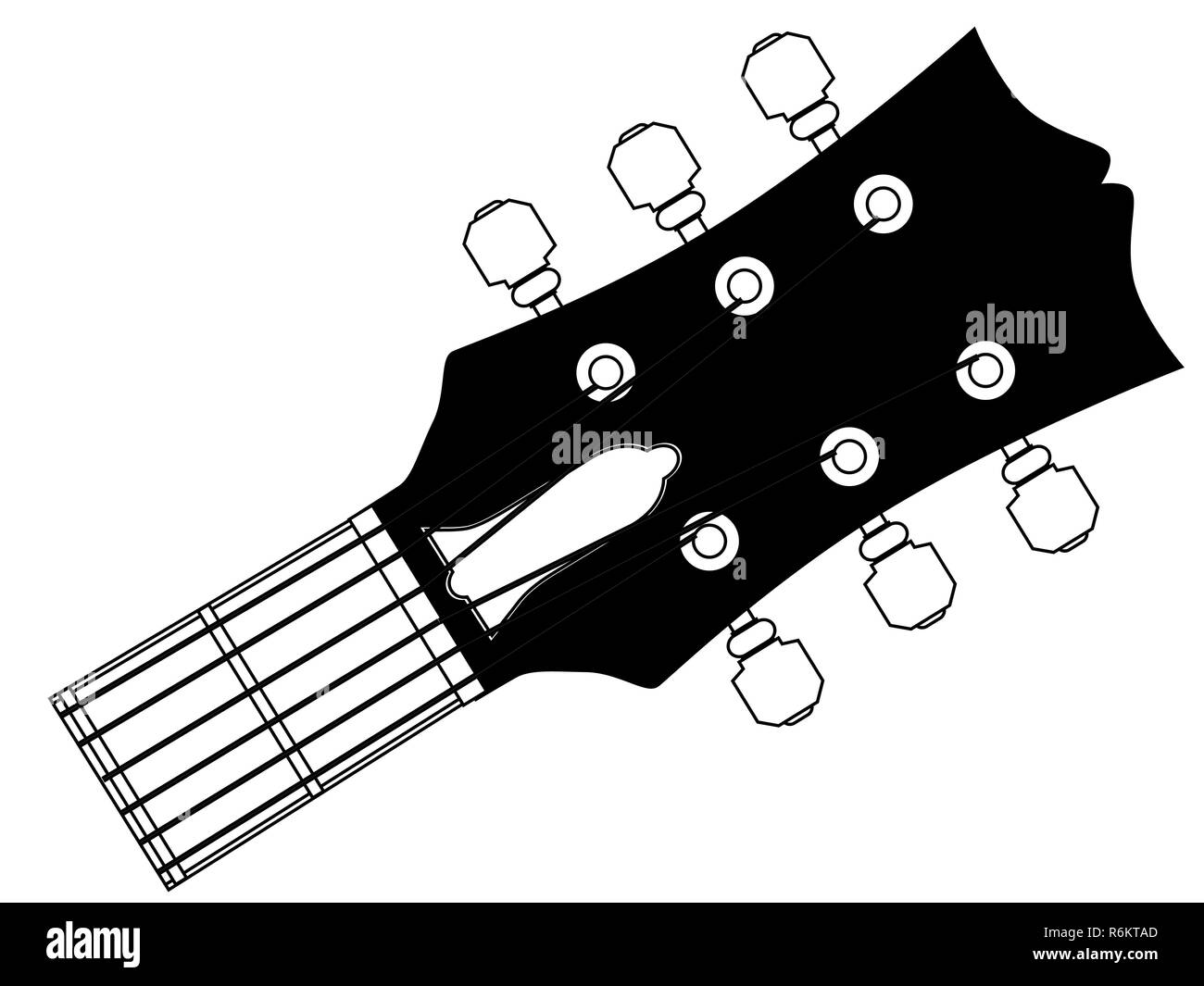 Guitar Headstock Outline Drawing Stock Photo 227858917 Alamy