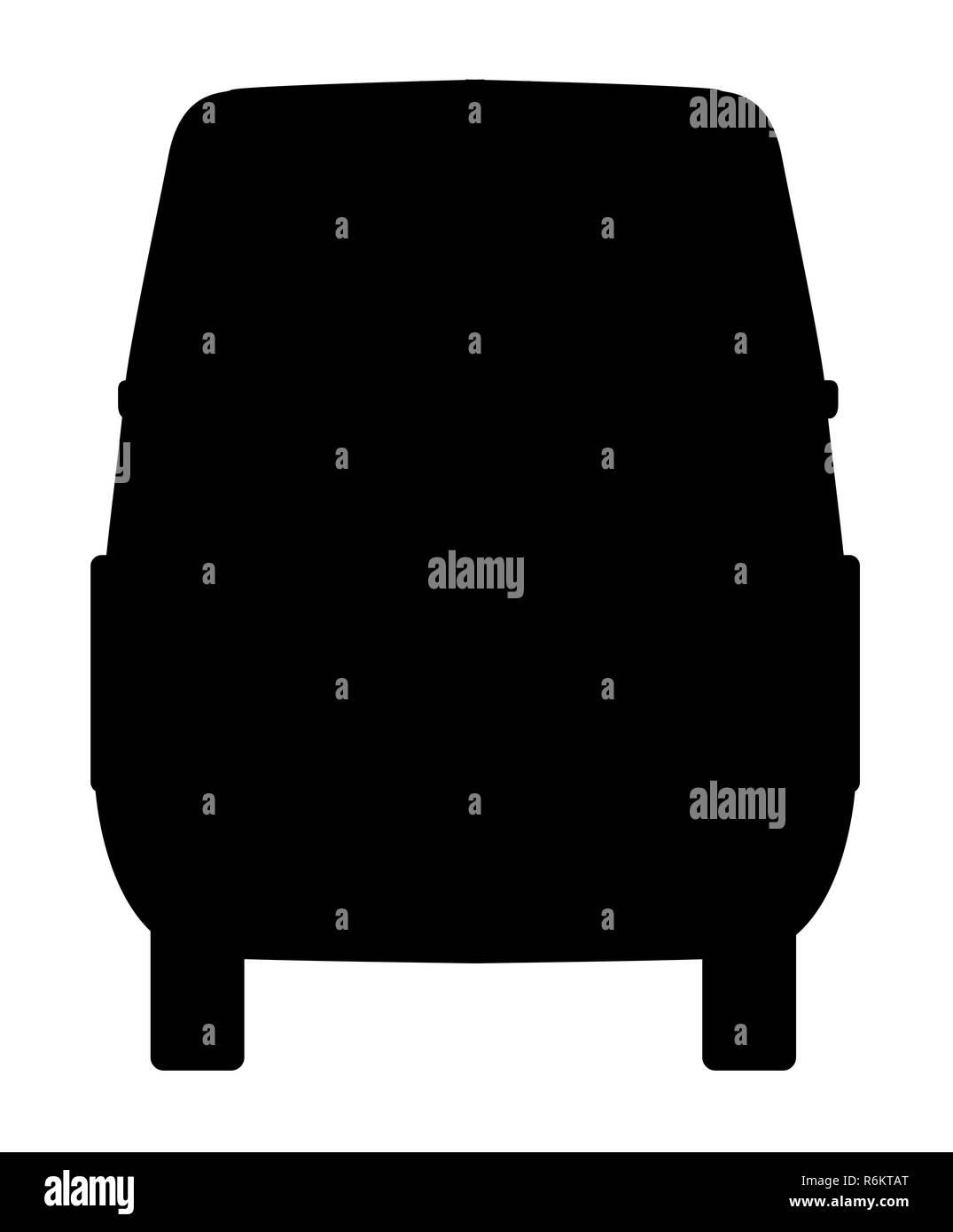 Small Van Rear Silhouette - Stock Image