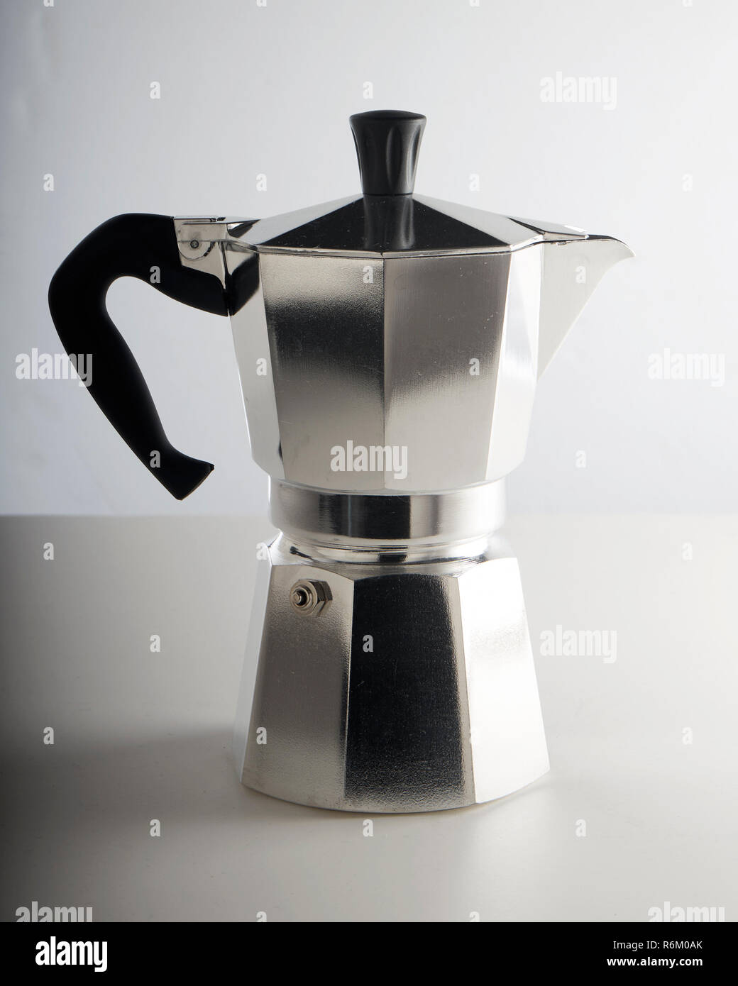 Stovetop coffee maker. - Stock Image