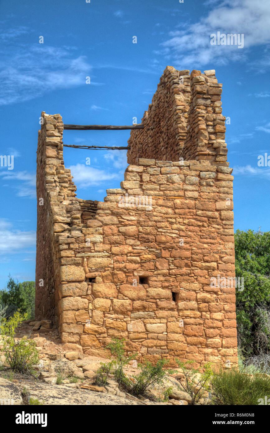 Holly Group, Anasazi Ruins, dates from A.D. 1230-1275, Hovenweep National Monument, Utah, USA - Stock Image
