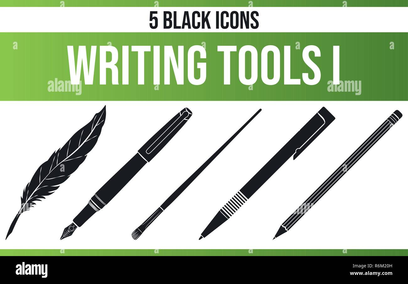 Black Pictograms Icons On Writing This Icon Set Is Perfect For Creative People And Designers Who Need The Theme Of Poetry In Their Graphic Designs Stock Vector Image Art Alamy