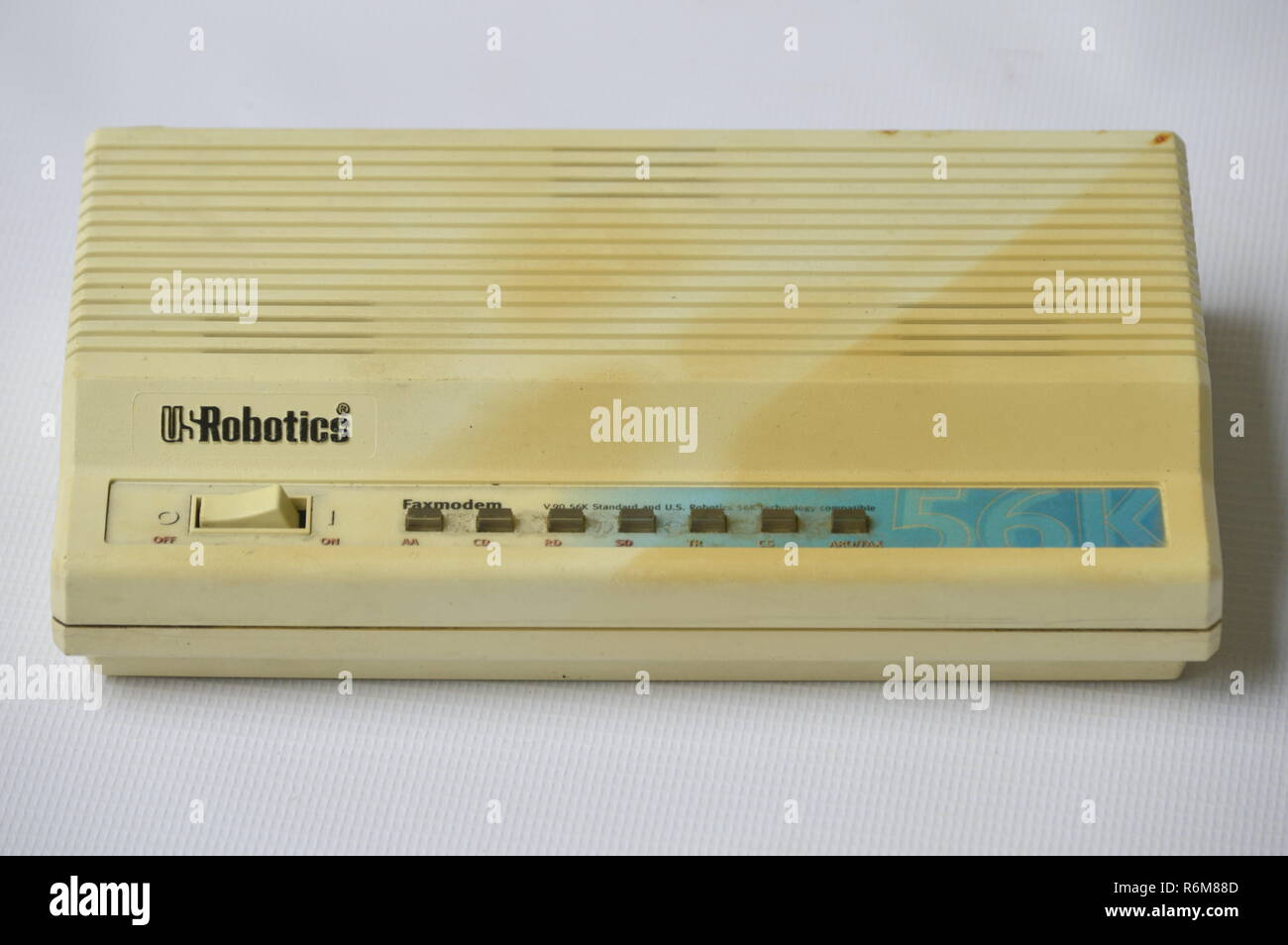 Vintage Internet Device Us Robotics Modem Stock Photo 227868269