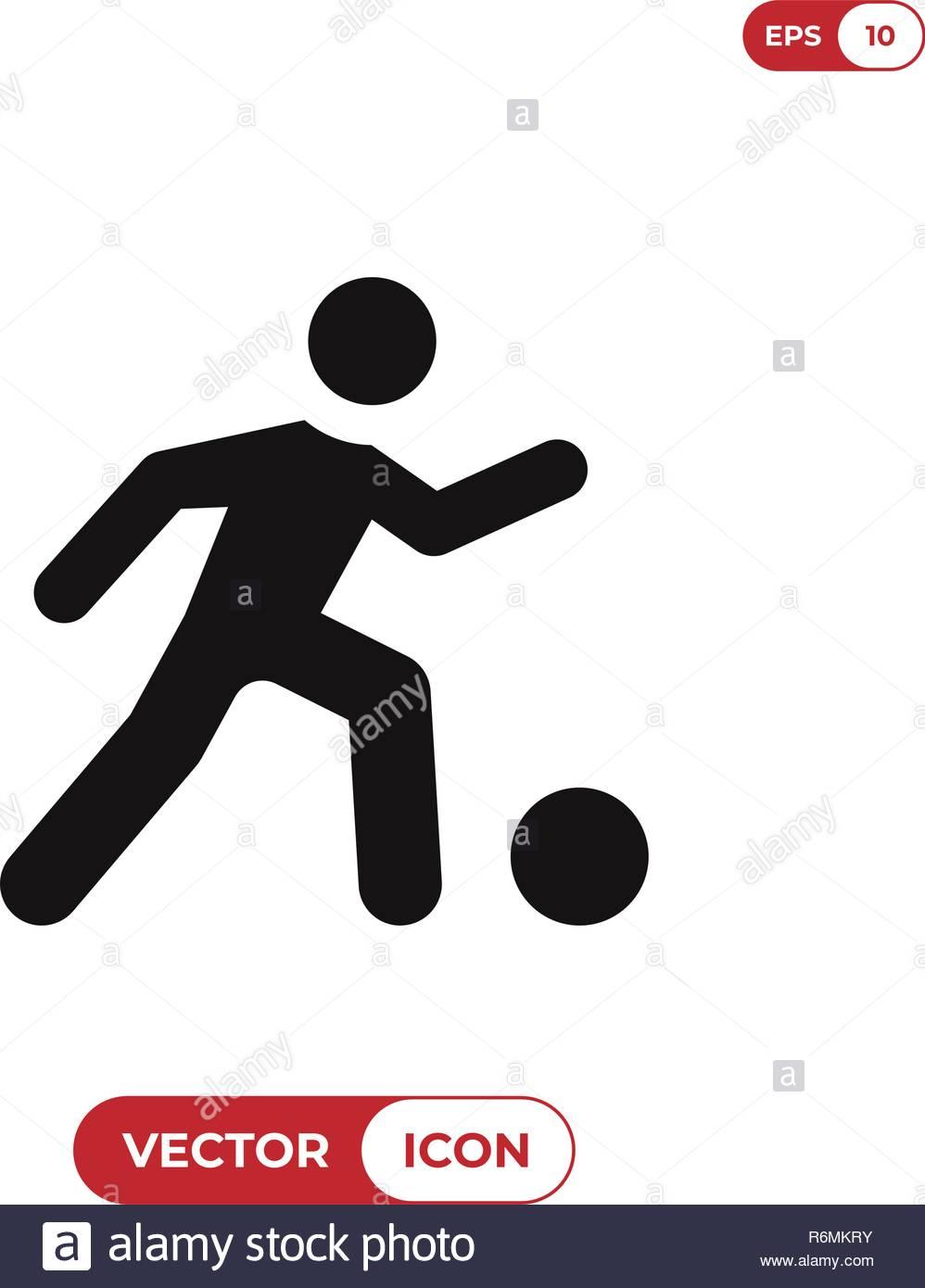 Football player vector icon - Stock Vector
