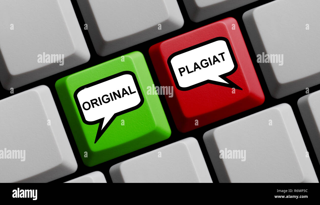 original and plagiarism online - Stock Image