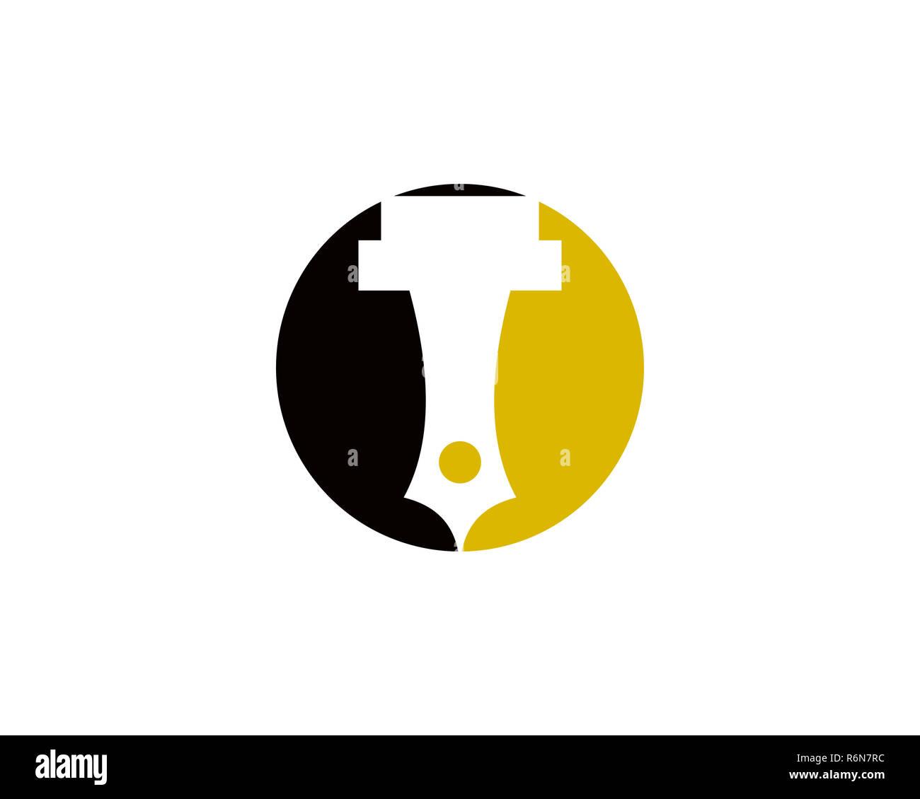 writer logo Stock Photo