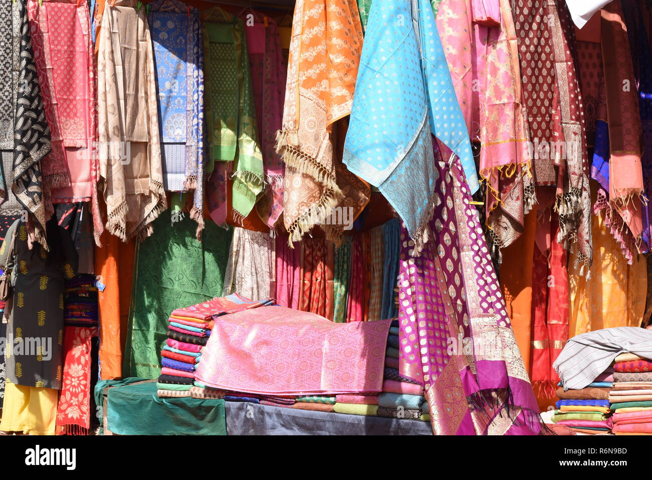 250320ff5f A stall selling unstitched ladies garments (suits) at the 10th National  Crafts Mela, Kalagram.