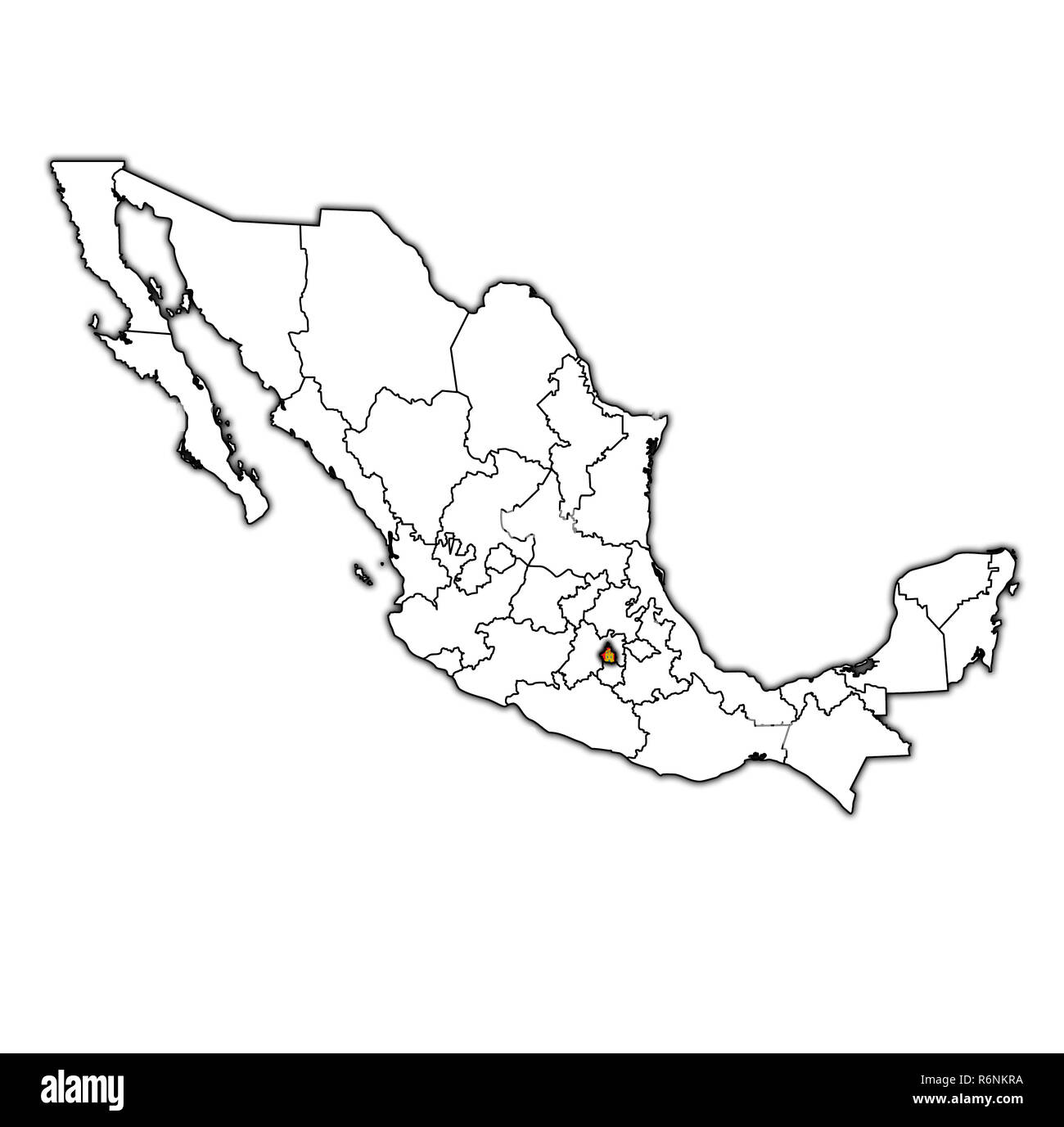 Tlaxcala On Administration Map Of Mexico Stock Photo 227899262 Alamy