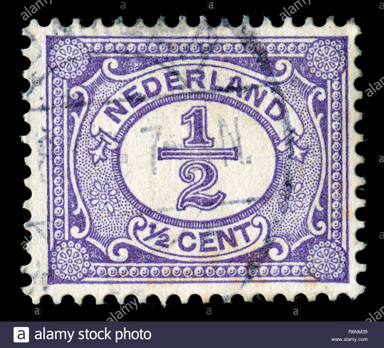 Postage Stamp From The Netherlands In Figure Series Issued 1899