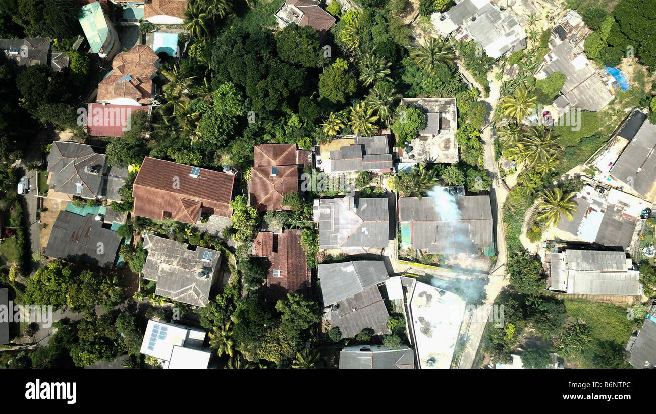 Kandy in Sri Lanka. Drone Picture. Bird View. - Stock Image