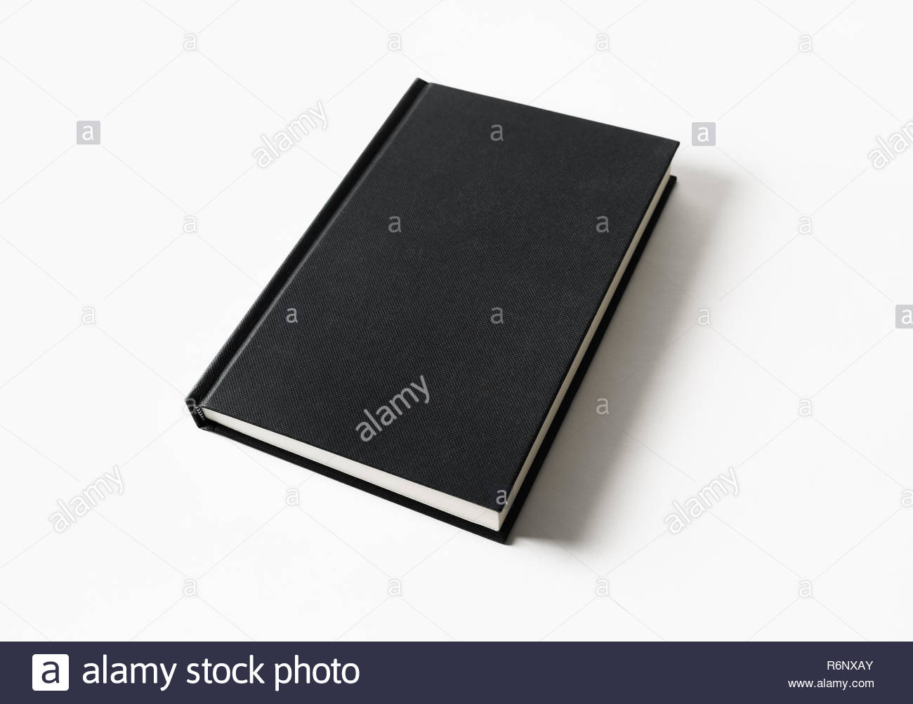Closed blank book - Stock Image