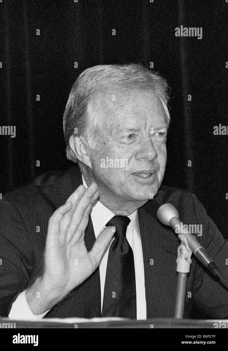 former American  President Jimmy Carter at the San Francisco press Club, California - Stock Image