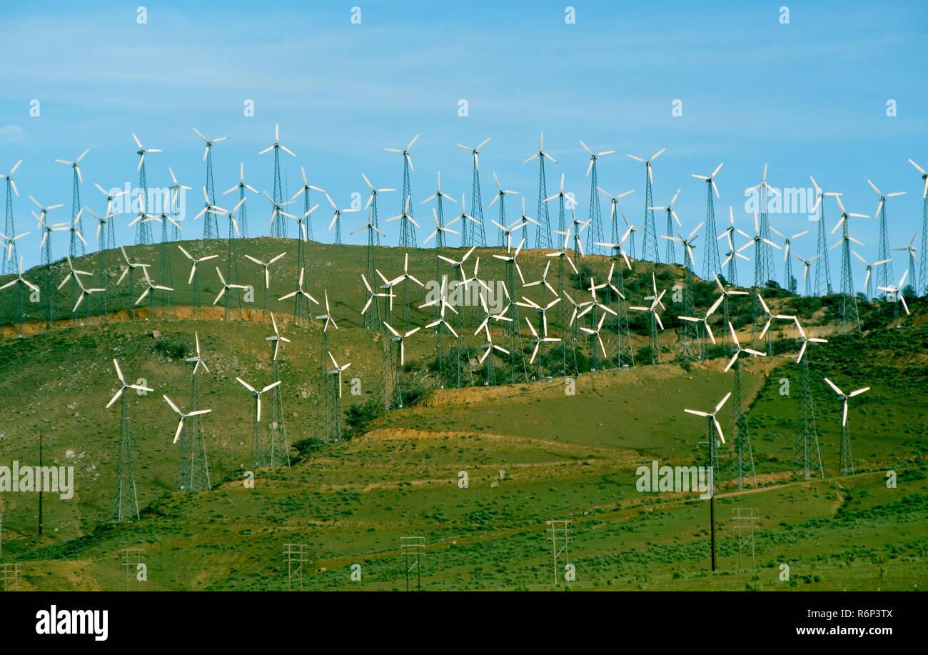 windmills, enviromental, los angeles, californisa, ca, energy, green, Stock Photo
