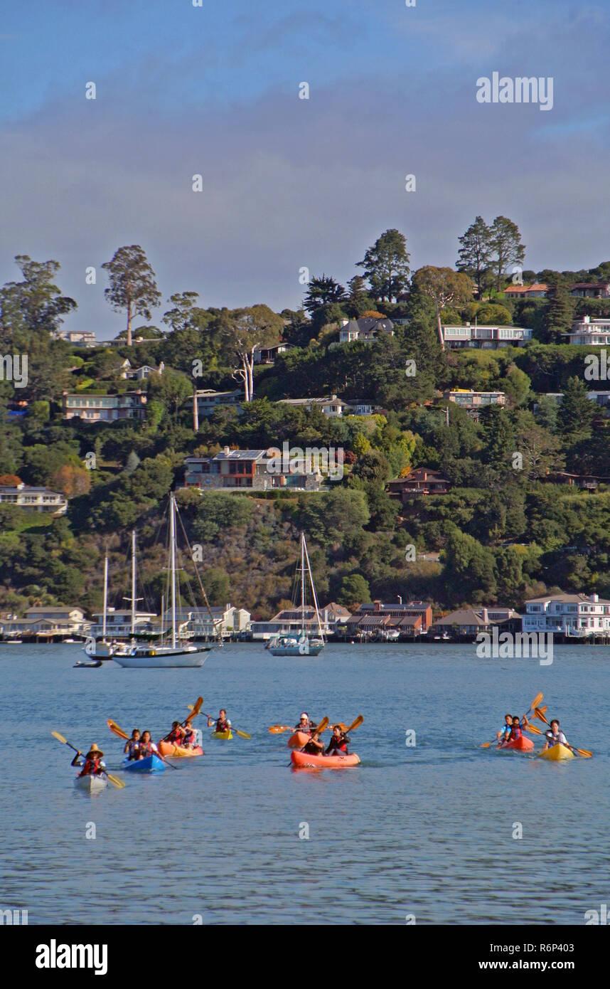 sausalito kayaks Stock Photo