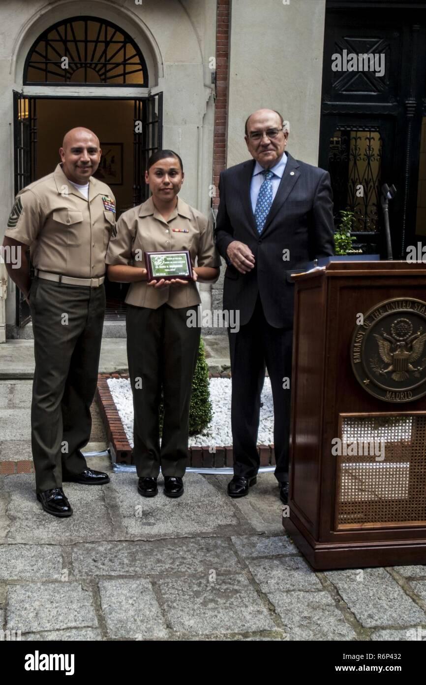 Corporal Dana L  Rodriguez, center, the Special Purpose