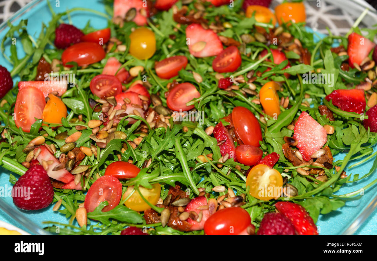 salad from rocket - Stock Image