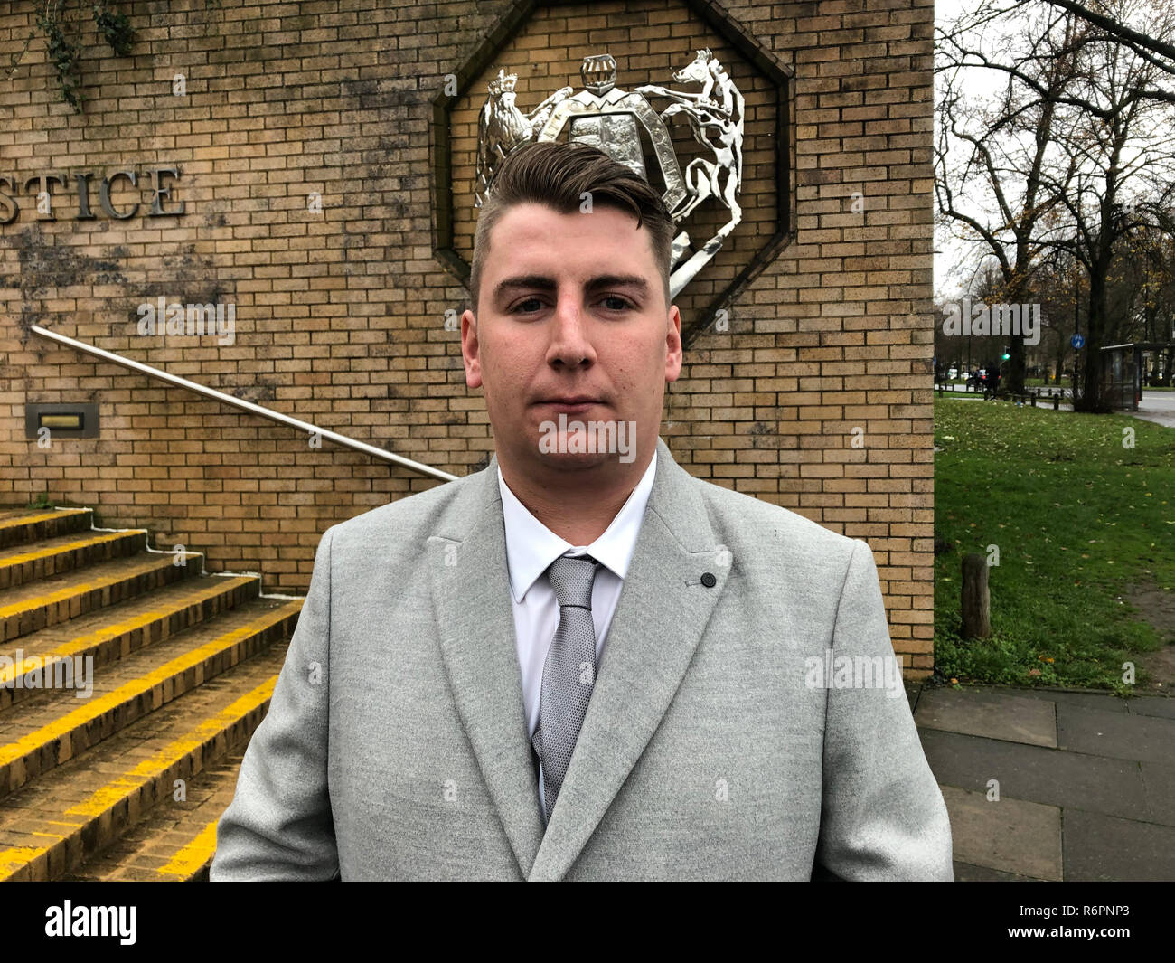 Tom Carey outside Southampton Crown Court where Gentjan Lalaj was jailed for three years and given a six-and-a-half year driving ban after he was found guilty of causing serious injury by dangerous driving. - Stock Image