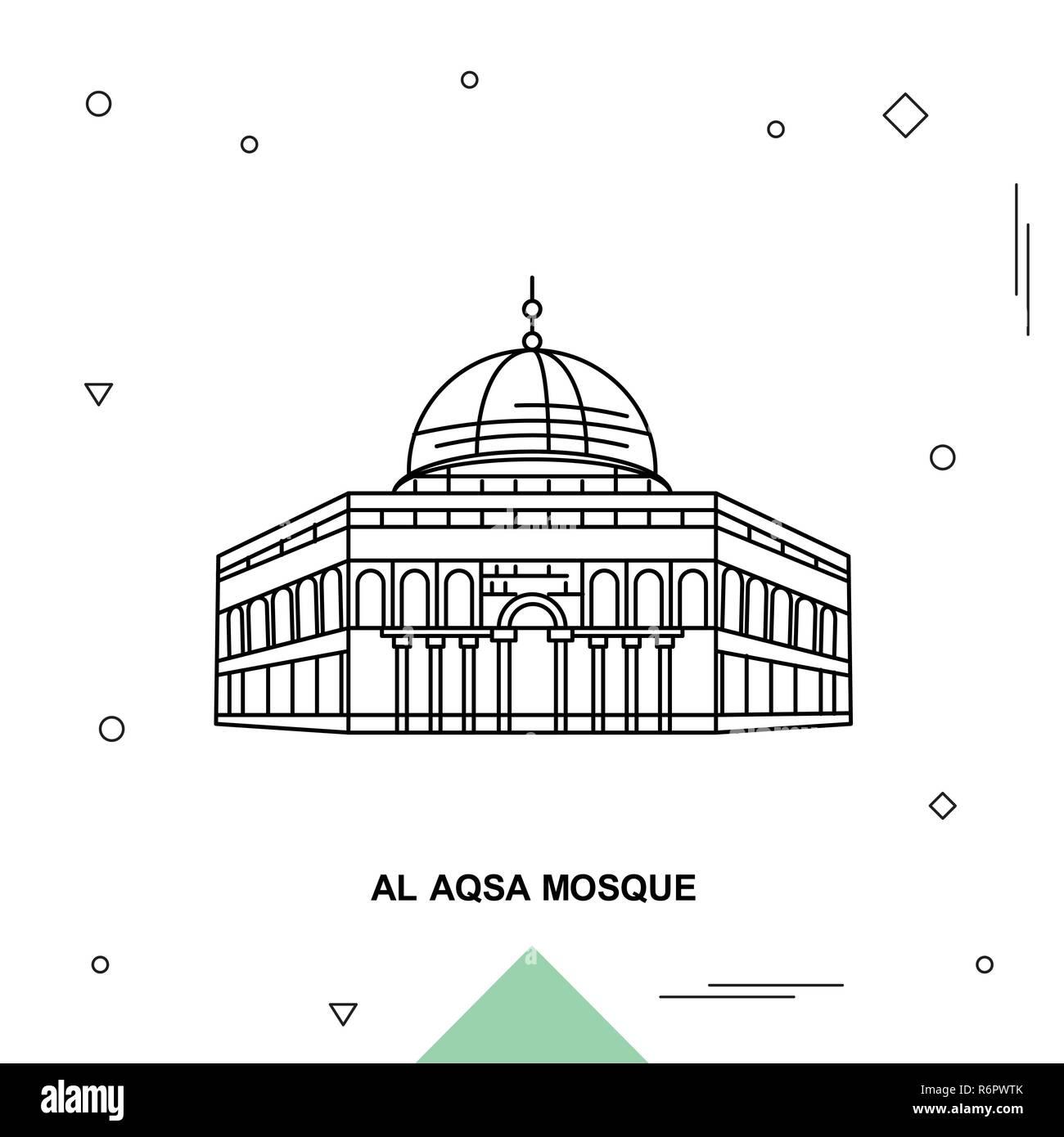 Al Aqsa Mosque Stock Vector Image Art Alamy