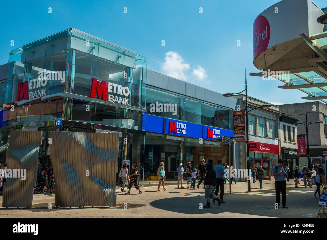 Banking and Shopping in swindon 22nd May, 2018 - Stock Image