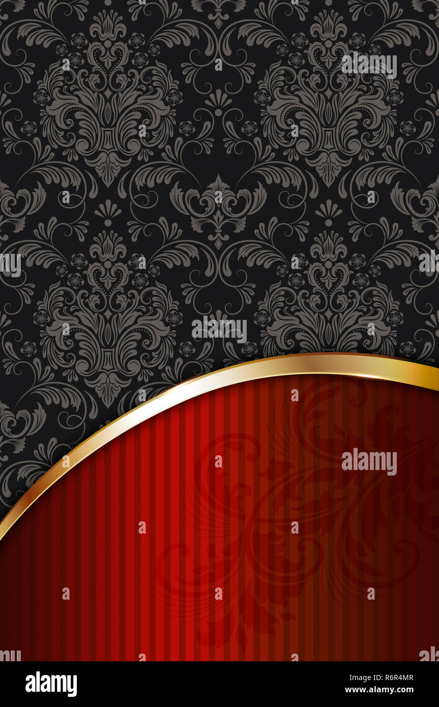 Decorative Background With Vintage Patterns And Golden
