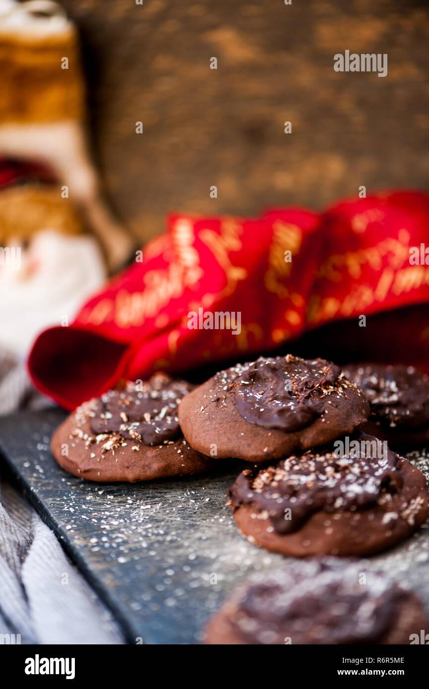 Fresh Baked Christmas Chocolate Cookies Stock Photo 227932110 Alamy