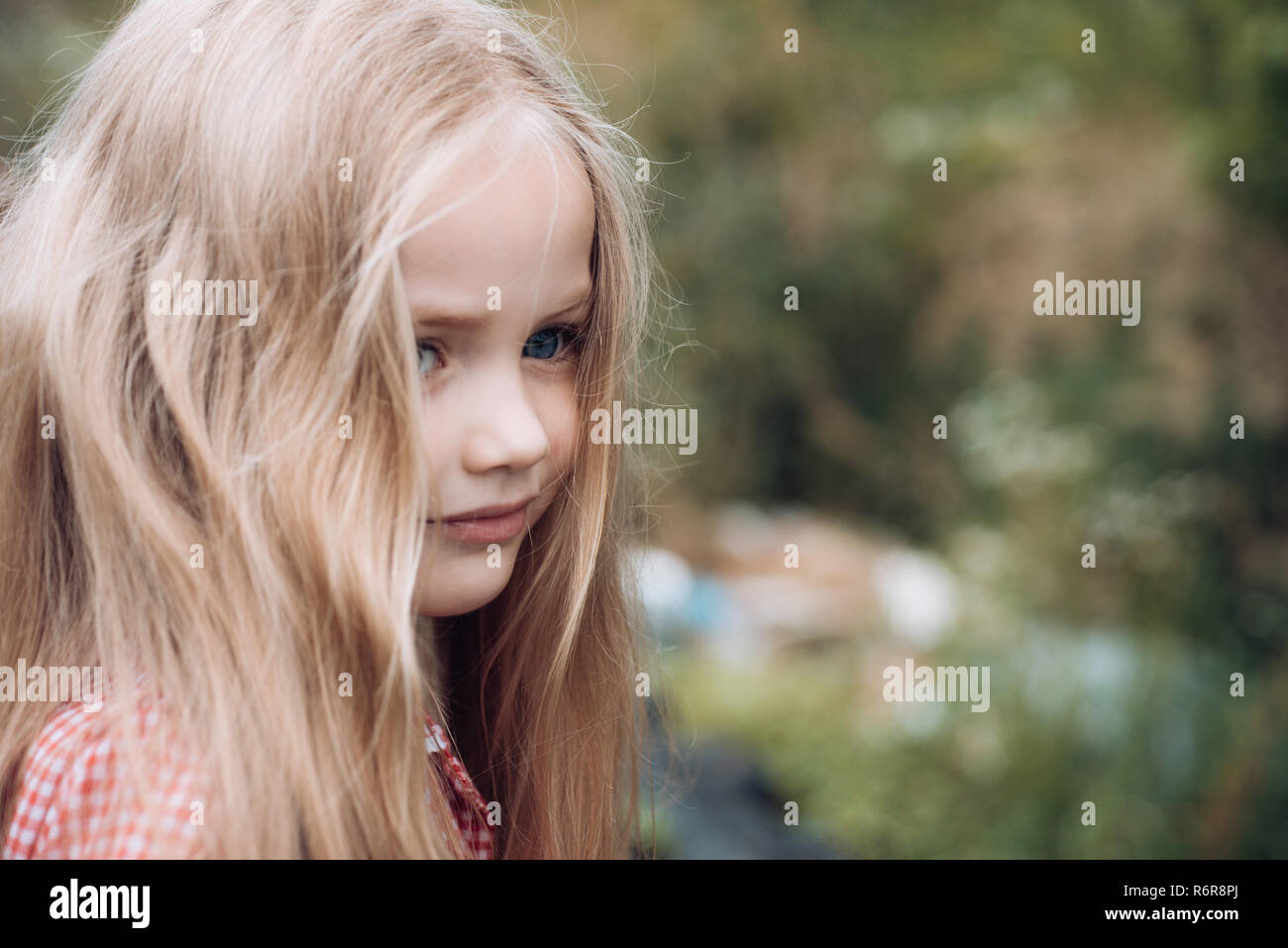 Unbinding My Hair Little Girl Wear Long Hair Little Girl With Blond Hair Happy Little Child