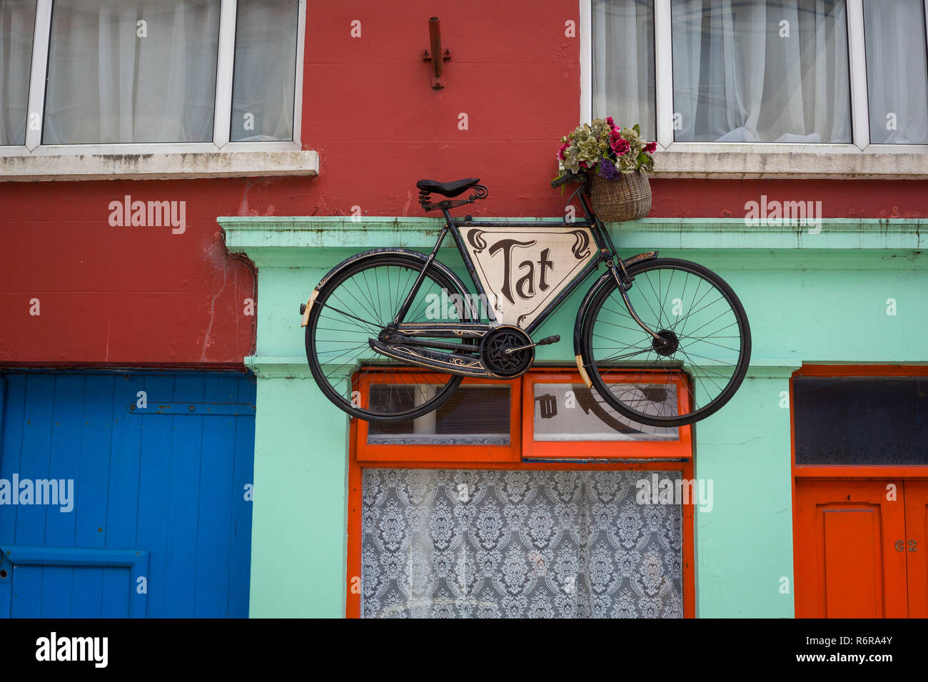 A colourful shopfront in Skibbereen, West Cork, Eire, the Republic of Ireland - Stock Image