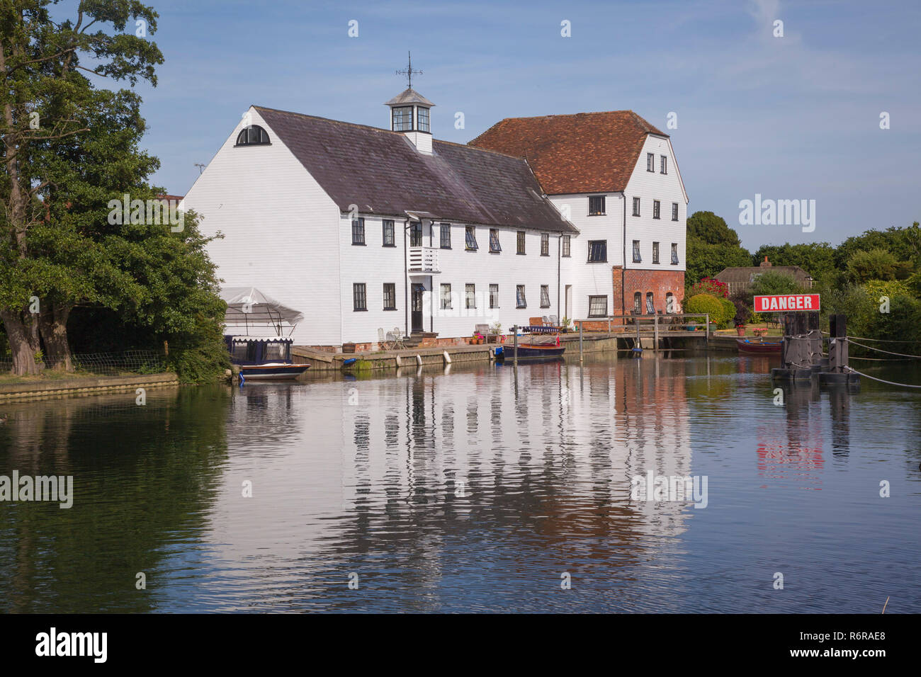 Hambleden Mill, Mill End, Buckinghamshire, now converted into flats Stock Photo