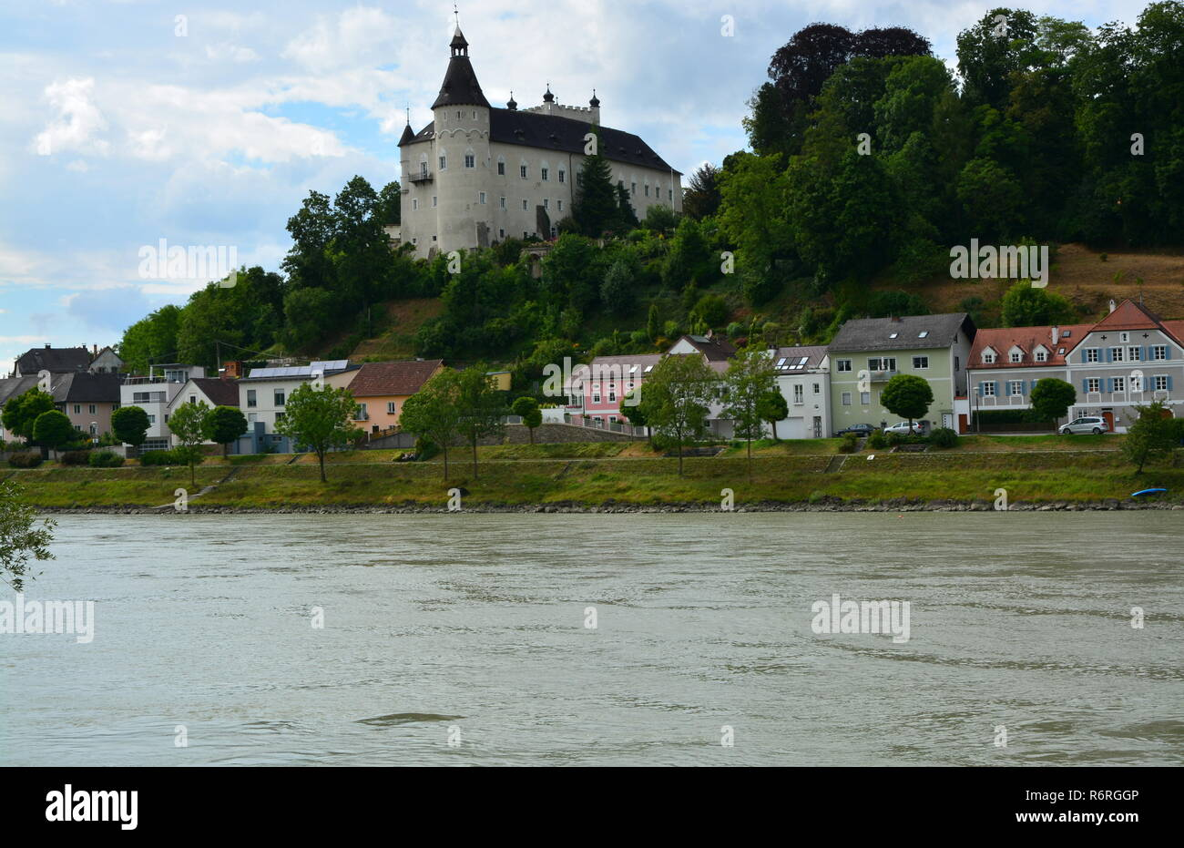 ottensheim castle on the danube Stock Photo