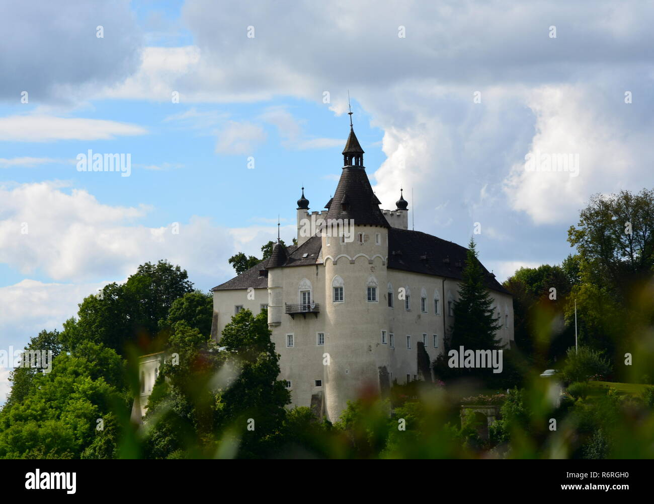 ottensheim castle Stock Photo
