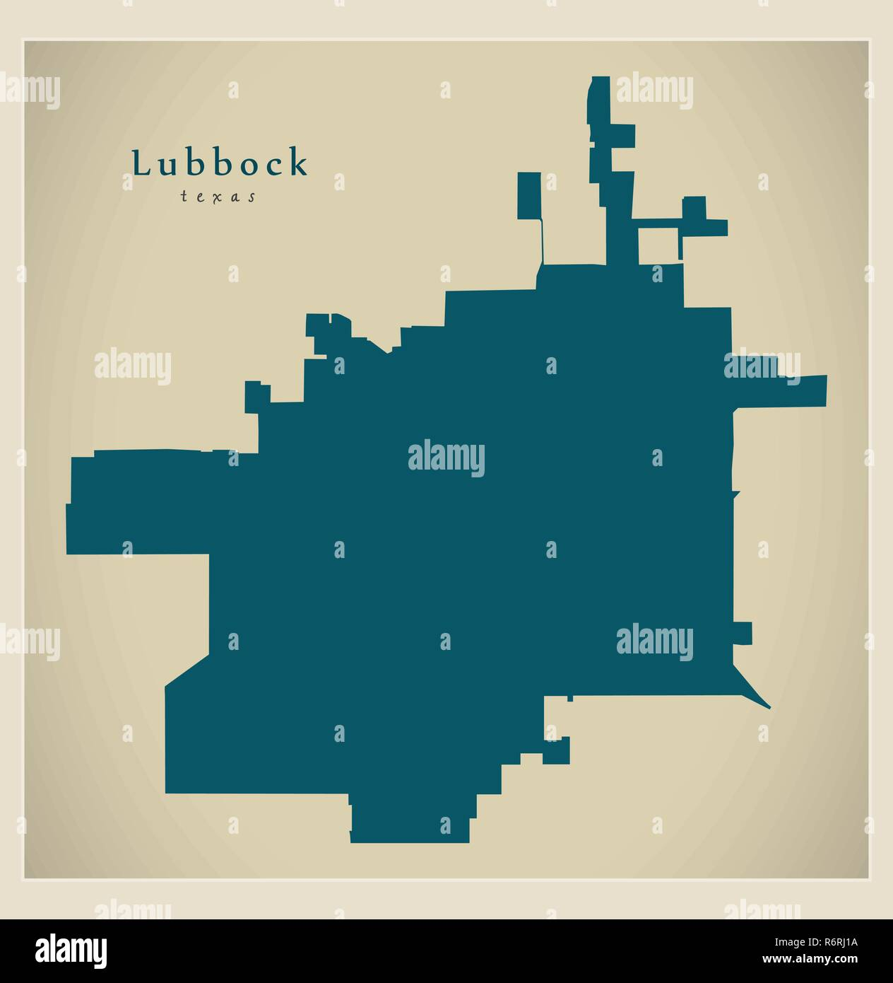 Map Of Texas City.Modern City Map Lubbock Texas City Of The Usa Stock Vector Art