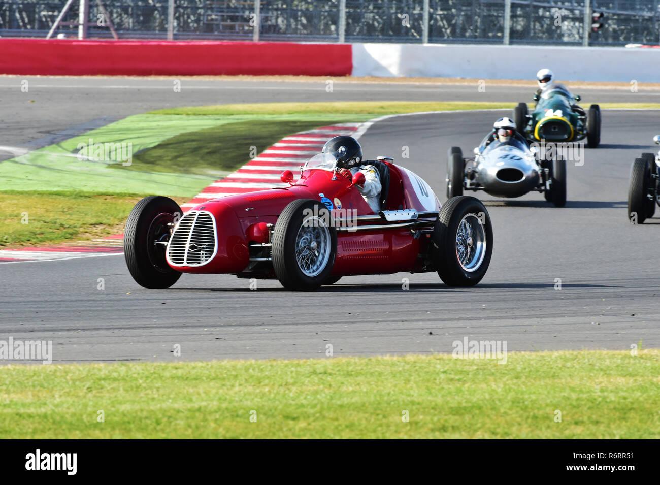 Julia de Baldanza, Maserati A6GCM, Pre 61, Grand Prix cars, HGPCA, Maserati Centenary Trophy, Silverstone Classic 2014, 2014, Classic Racing Cars, Gra - Stock Image