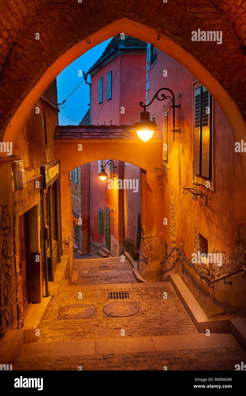 Sibiu old town, Transylvania, Romania - Stock Image