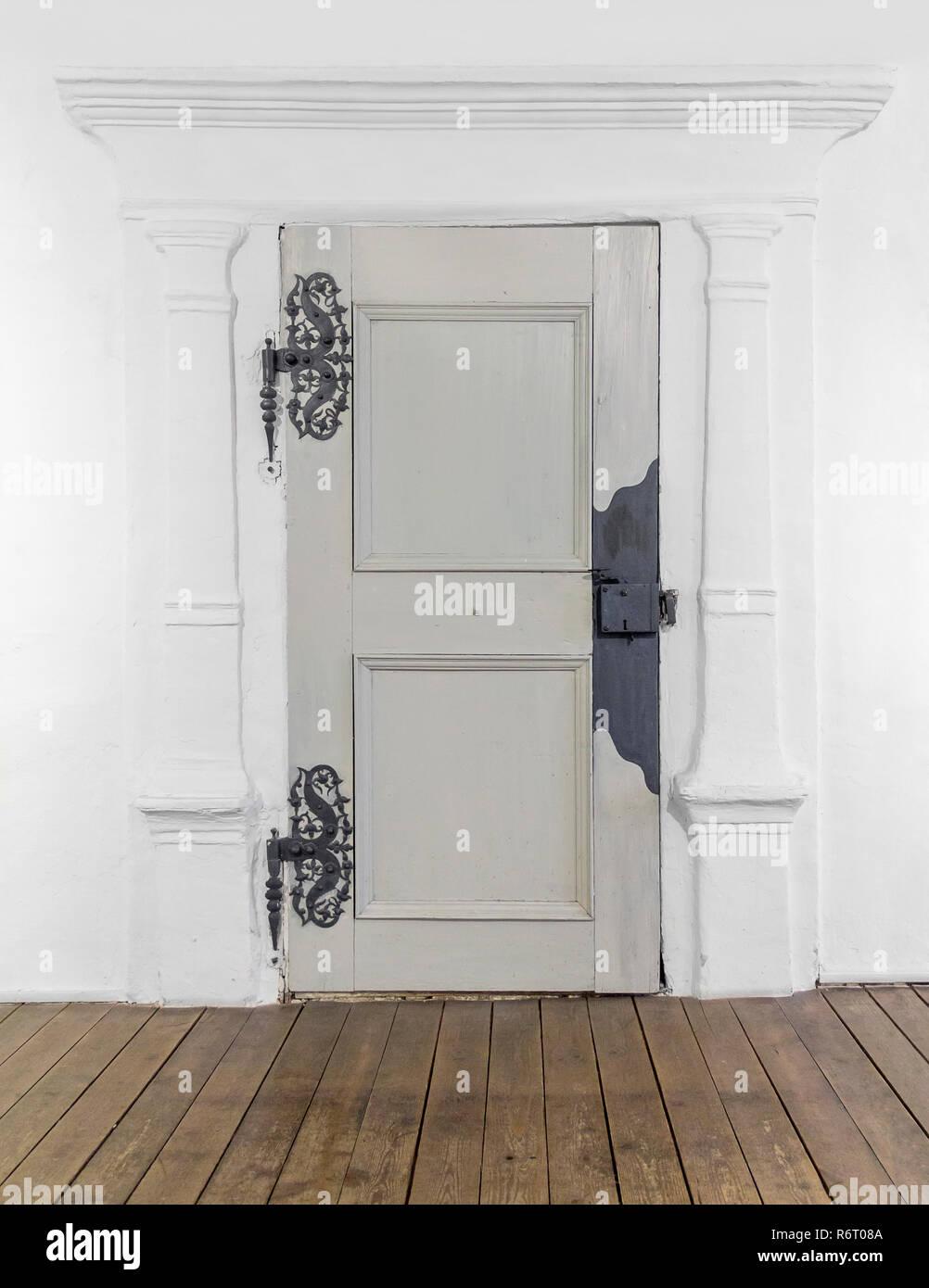 historic wooden door - Stock Image