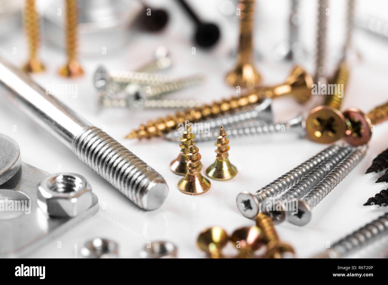 screws closeup - Stock Image