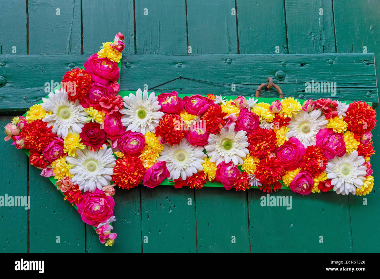 Flower arrow Stock Photo