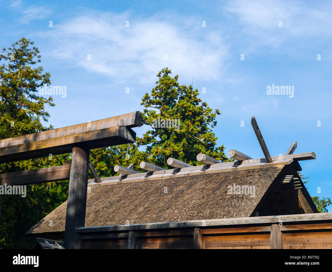 Ise Grand Shrine, Mie Prefecture, Japan: View of the Outer Shrine (Geku) - Stock Image