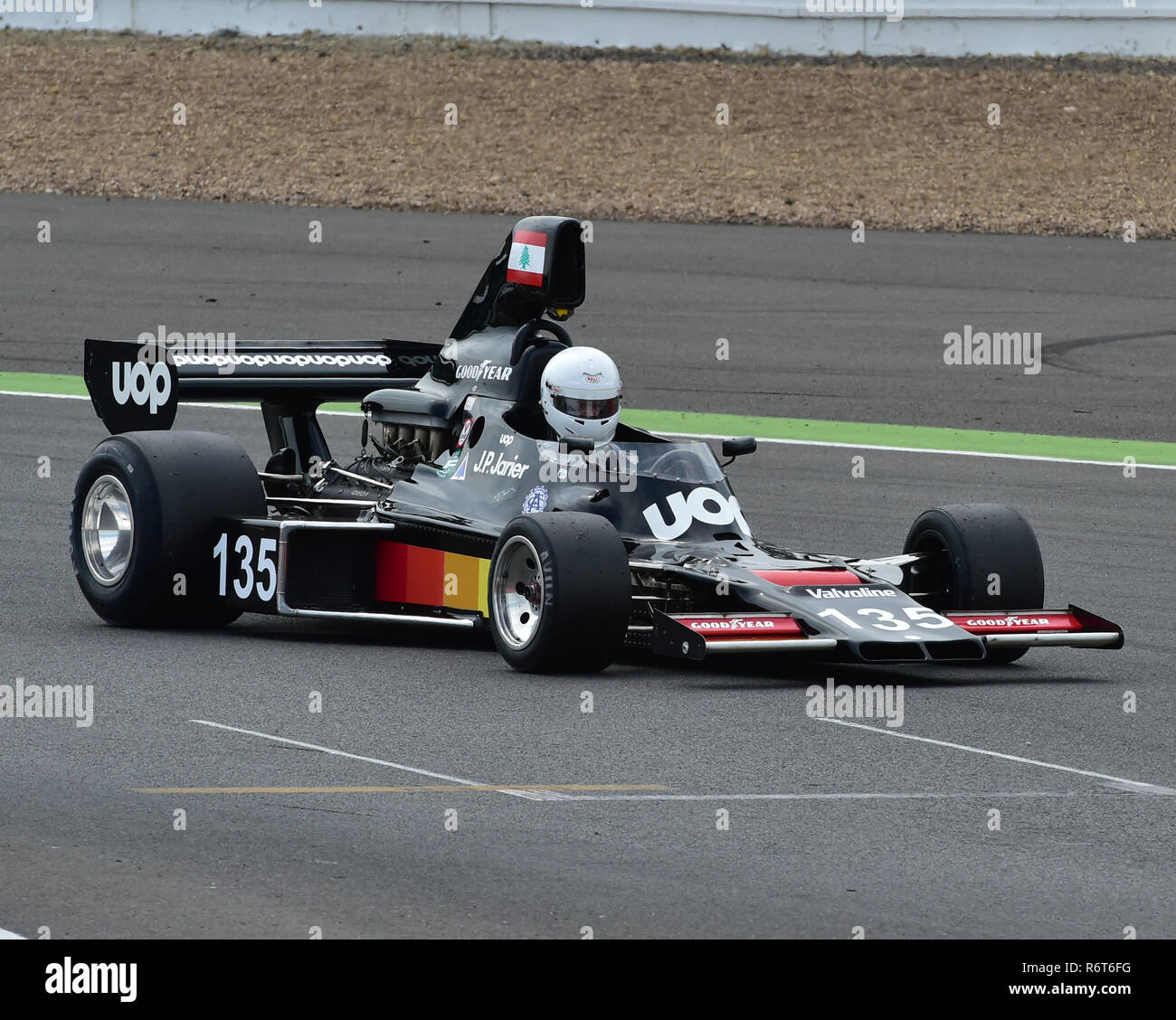 Greg Audi, Shadow DN5, Silverstone Classic 2014, 2014, Classic Racing Cars, F1, FIA, Ford, Formula 1, Grand Prix cars, Historic Formula One, Historic  - Stock Image