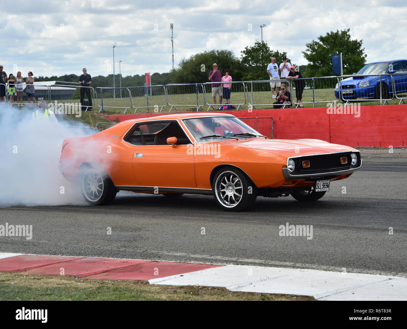 Amc Javelin 1973 Sll 969 W Uk Street Machines Silverstone Classic 2014 2014 Classic Racing Cars Drag Racing Historic Racing Cars Hot Rods H Stock Photo Alamy