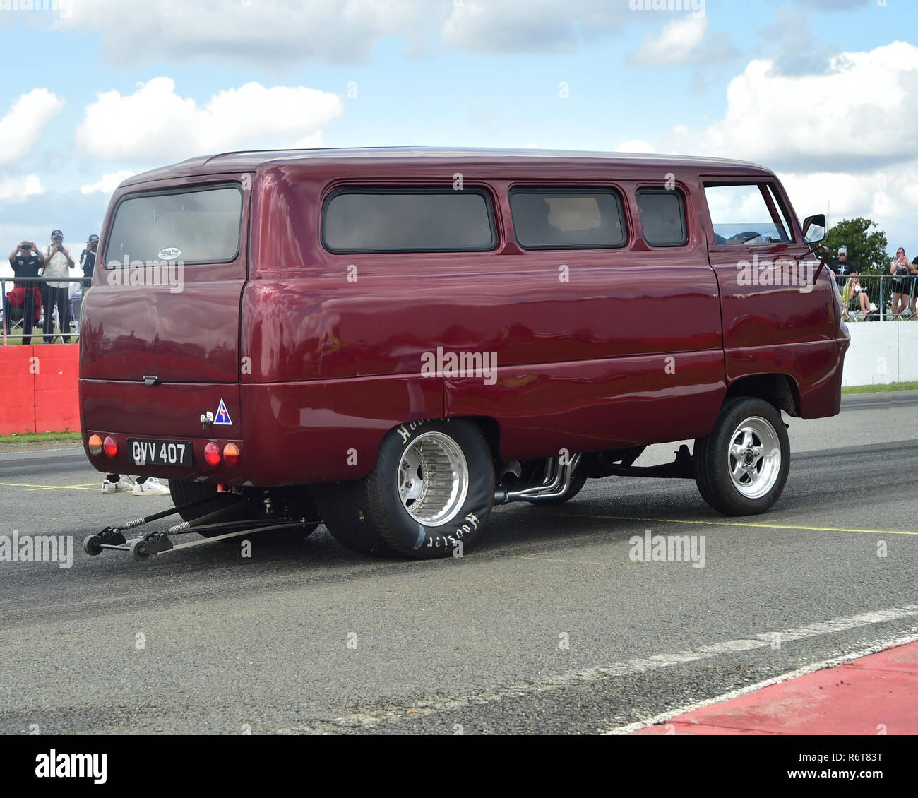 Modified Ford Van Ovv 407 Uk Street Machines Silverstone Classic 2014 2014 Classic Racing Cars Drag Racing Historic Racing Cars Hot Rods Hscc Stock Photo Alamy